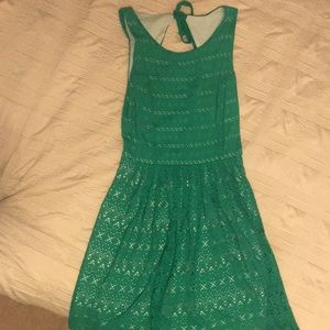 Anthropologie Green Dress size small